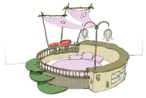Ідеї   для дитячої кімнати. Спальня маленької феї