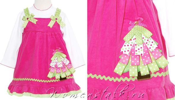 Новорічні сукні для дівчаток - зшити самим просто і швидко. Частина 5.