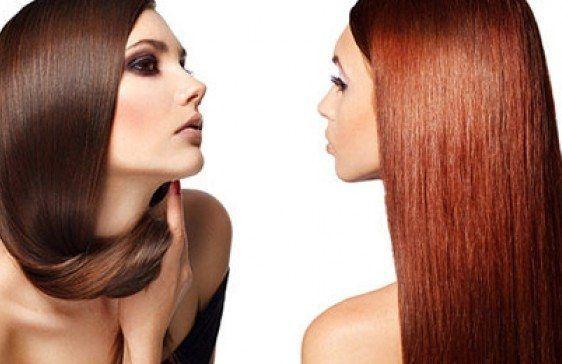 Семіперманентное іонну фарбування або кольорове ламінування волосся