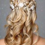 Весільні зачіски з розпущеним волоссям (40)