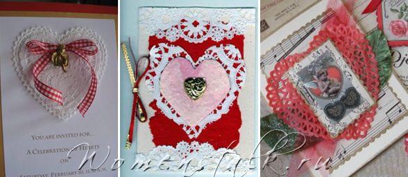 Валентинки своїми руками - листівки.